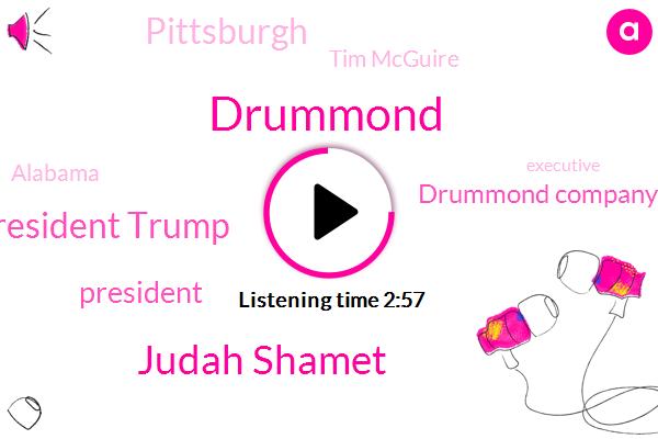 Drummond,Judah Shamet,AP,President Trump,Drummond Company,Pittsburgh,Tim Mcguire,Alabama,Executive,United States,Indiana,Congress,Jose Ramirez,Paul Ryan,Colombia,Burt,Brands International,Jared,Ivanka
