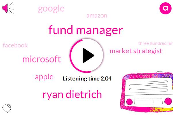 Fund Manager,Ryan Dietrich,Microsoft,Apple,Market Strategist,Google,Amazon,Facebook,Three Hundred Ninety Four Days,Thirty Five Percent,Five Percent,100 Percent,Six Percent