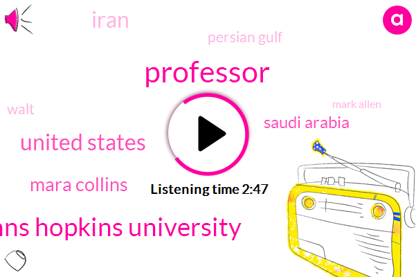Professor,Johns Hopkins University,United States,Mara Collins,Saudi Arabia,Iran,Persian Gulf,Walt,Mark Allen,Gulf Of Oman,Hormuz,Strait Of Hormuz