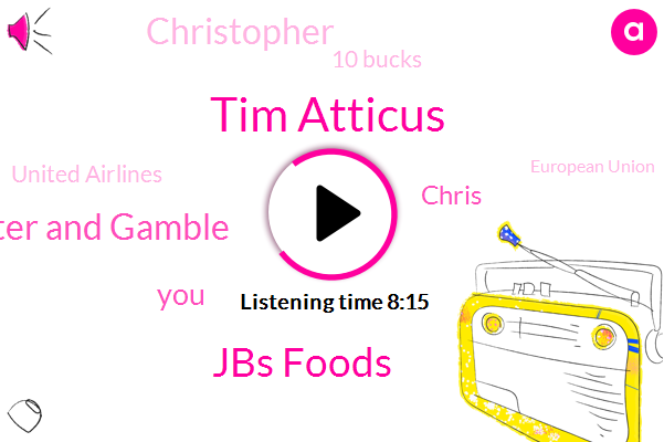 Tim Atticus,Jbs Foods,Procter And Gamble,Chris,Christopher,10 Bucks,United Airlines,European Union,Last Year,FBI,52%,6.4%,9%,AMC,20,000,Reddit,Thursday,December,15 Jets,Last Quarter