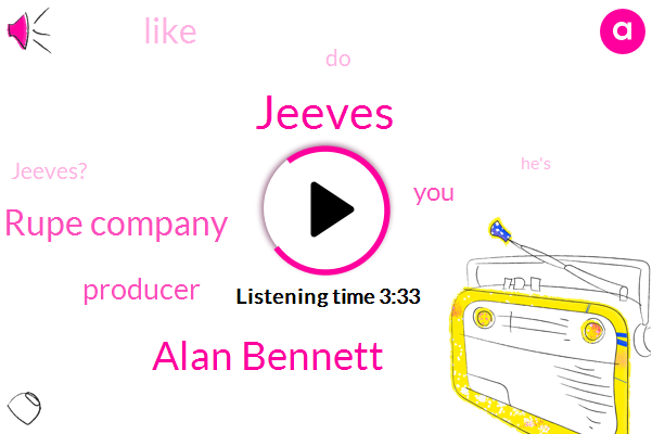 Jeeves,Alan Bennett,Rupe Company,Producer