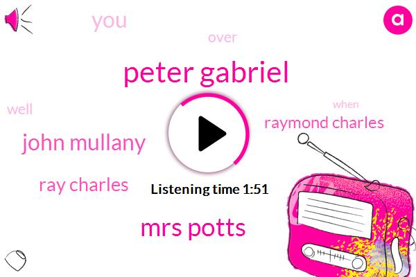 Peter Gabriel,Mrs Potts,John Mullany,Ray Charles,Raymond Charles