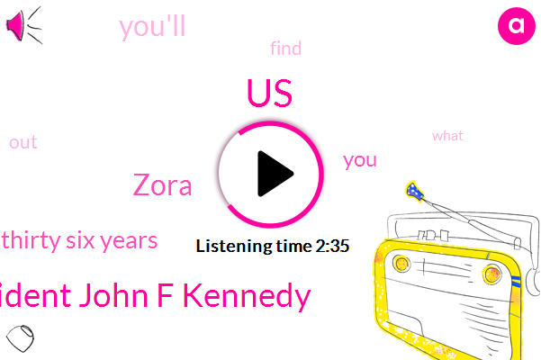 United States,President John F Kennedy,Zora,One Thousand Nine Hundred Ninety Nine Thirty Six Years