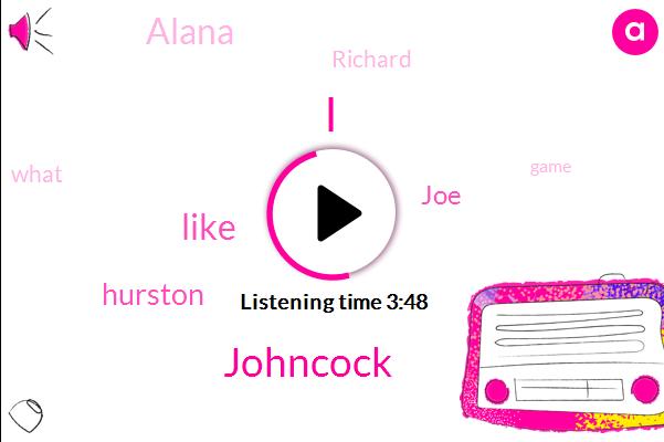 Johncock,Hurston,JOE,Alana,Richard