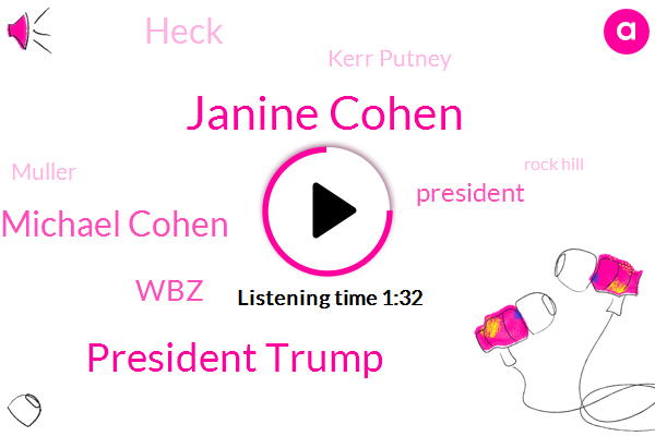 Janine Cohen,President Trump,Michael Cohen,WBZ,Heck,Kerr Putney,Muller,Rock Hill,Charlotte,Copd,Fraud,Congress,FOX,Russia,Attorney,Thirty Four Degrees,Thirty Five Percent,Three Years