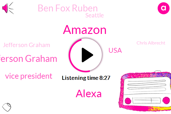 Amazon,Alexa,Daniel Rouse Amazon Jefferson Graham,Vice President,Ben Fox Ruben,USA,Seattle,Jefferson Graham,Chris Albrecht,Developer,Daniel Rouse,CNN,Twitter,Brett Casella,Daniel Row,Chris Crispell Brek,Daniel,Gotcha