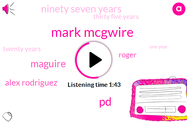 Mark Mcgwire,PD,Maguire,Alex Rodriguez,Roger,Ninety Seven Years,Thirty Five Years,Twenty Years,One Year