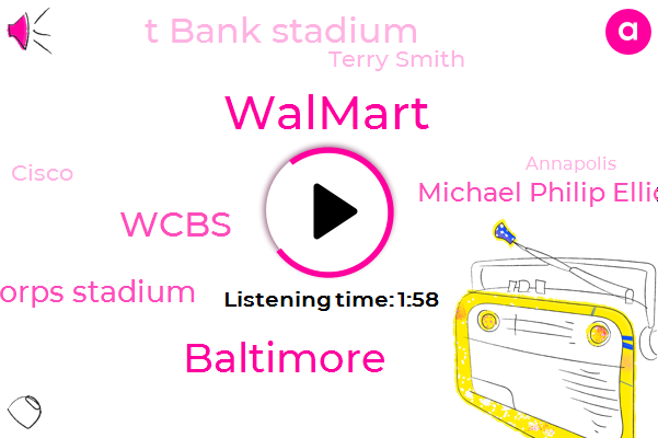 Walmart,Baltimore,Wcbs,Navy Marine Corps Stadium,FOX,Michael Philip Elliott,T Bank Stadium,Terry Smith,Cisco,Annapolis,Fred,United States,China,Four Percent,One Thousand Dollars,Thirty Seven Percent