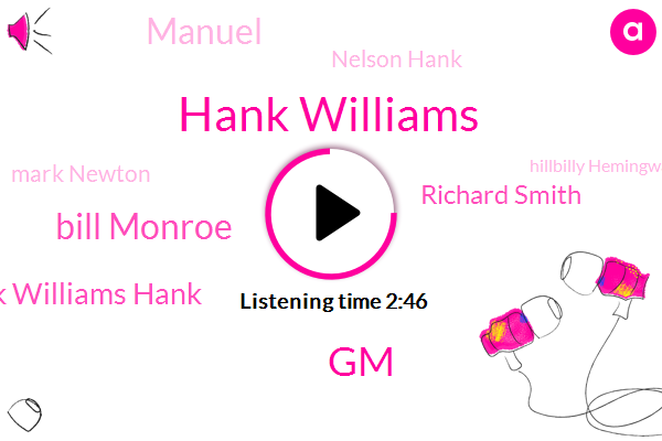 Hank Williams,GM,Bill Monroe,Hank Williams Hank,Richard Smith,Manuel,Nelson Hank,Mark Newton,Hillbilly Hemingway