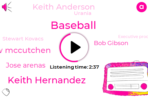 Baseball,Keith Hernandez,Andrew Mccutchen,Jose Arenas,Bob Gibson,Keith Anderson,Urania,Stewart Kovacs,Executive Producer,Seinfeld,Yossi