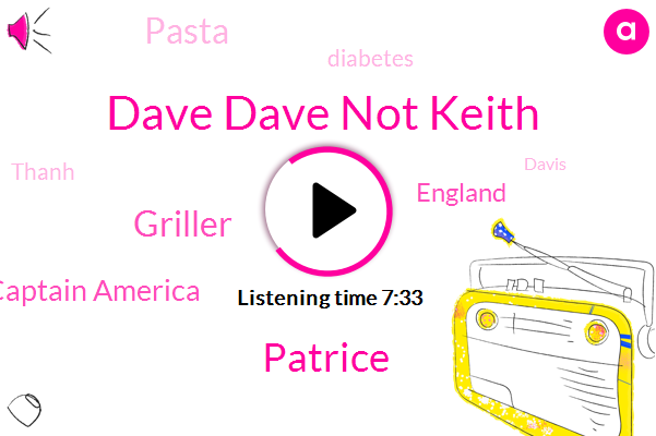 Dave Dave Not Keith,Patrice,Griller,Captain America,England,Pasta,Diabetes,Thanh,Davis,Captain Marvel,Brown,United States