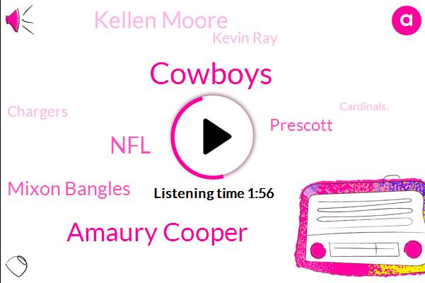 Cowboys,Amaury Cooper,NFL,Mixon Bangles,FOX,Prescott,Kellen Moore,Kevin Ray,Chargers,Cardinals.,Texas,Saints,Panthers,Jaguars.,Ravens.,Dallas,Minnesota,Getsem