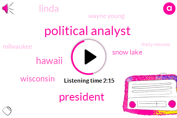 Political Analyst,President Trump,Hawaii,Wisconsin,Snow Lake,Linda,Wayne Young,Milwaukee,Thirty Minutes,Six Inches,Two Feet