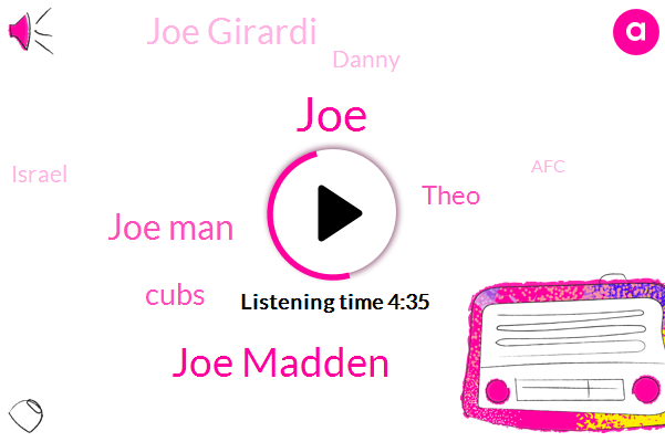 Joe Madden,Joe Man,JOE,Cubs,Theo,Joe Girardi,Danny,Israel,AFC,Tampa,Darvish,David Ross,Tyler,Two Years