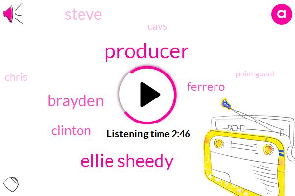 Producer,Ellie Sheedy,Brayden,Clinton,Ferrero,Steve,Cavs,Chris,Point Guard,Bulls,Michael,Dick Sean,Cleveland,Derek Rose,One Second