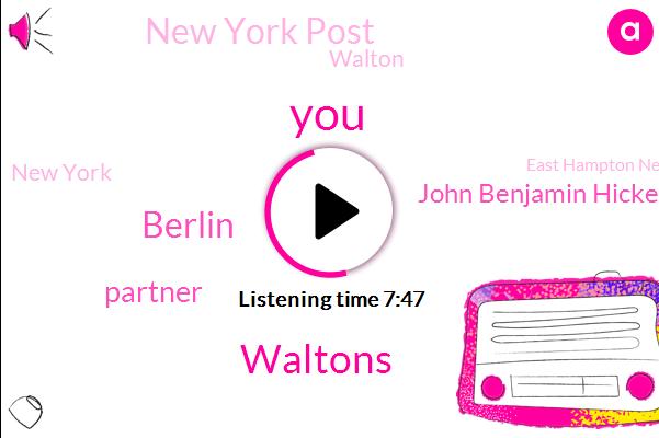 Waltons,Berlin,Partner,John Benjamin Hickey,New York Post,Walton,New York,East Hampton New York,Lexington,Babylon Berlin,Netflix,Europe,Superintendent,LA,Neil Simon,Summerside,Boston