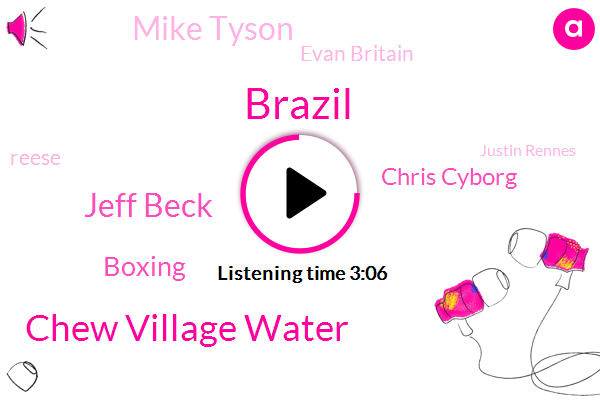 Chew Village Water,Brazil,Jeff Beck,Boxing,Chris Cyborg,Mike Tyson,Evan Britain,Reese,Justin Rennes,Gunnedah,Africa,Michael,South Africa,Casey,Makanin,Five Hundred Pound,Six Seven Years