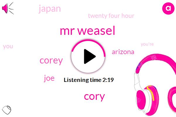 Mr Weasel,Cory,Corey,JOE,Arizona,Japan,Twenty Four Hour