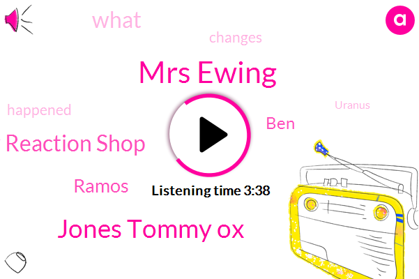 Mrs Ewing,Jones Tommy Ox,Shaw Reaction Shop,Ramos,BEN