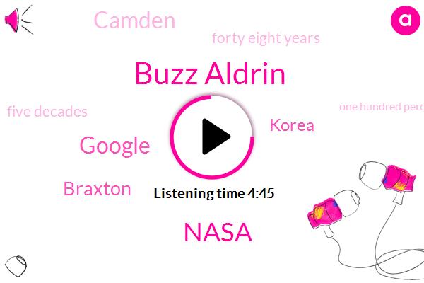 Buzz Aldrin,Nasa,Google,Braxton,Korea,Camden,Forty Eight Years,Five Decades,One Hundred Percent