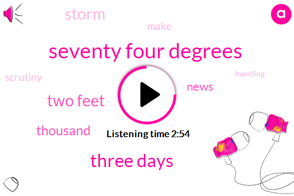 Seventy Four Degrees,Three Days,Two Feet