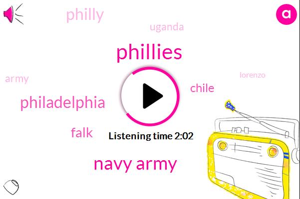 Phillies,Navy Army,Philadelphia,Falk,Chile,Uganda,Philly,Army,Lorenzo,75 Percent