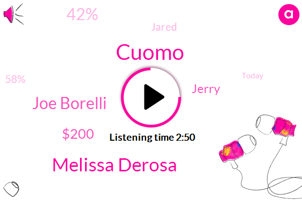 Melissa Derosa,Joe Borelli,Cuomo,$200,Jerry,42%,Jared,58%,Today,Cuomo Jr.,Both Sides,Michigan,Three Pack,ONE,Eton,Democrats,Foia,Whitmer,One Way,Grace