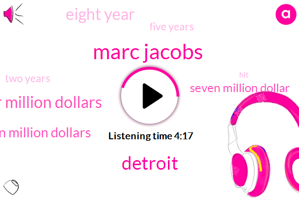 Marc Jacobs,Detroit,Sixty Four Million Dollars,Eleven Million Dollars,Seven Million Dollar,Eight Year,Five Years,Two Years