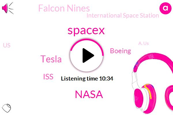 Spacex,Nasa,Tesla,ISS,Boeing,Falcon Nines,International Space Station,United States,A. Us,Griffin,Alon,U. S.,Benue,Ilan,Doug Hurley,Bob Bankin,CEO,Ocean,Gwen
