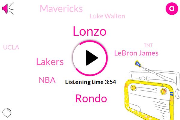 Lonzo,Rondo,Lakers,Lebron James,NBA,Mavericks,Luke Walton,Ucla,TNT,Lebron,Kuzina,Iowa,Brandon Ingram,Josh Heart,Three Minutes,Two Weeks