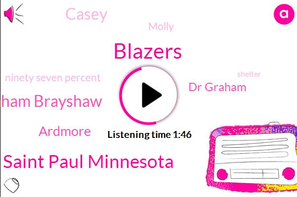Blazers,Saint Paul Minnesota,Dr Graham Brayshaw,Ardmore,Dr Graham,Casey,Molly,Ninety Seven Percent