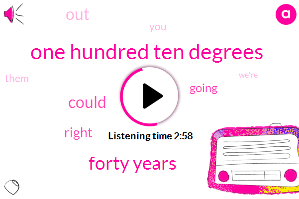 One Hundred Ten Degrees,Forty Years