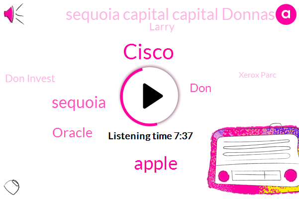 Cisco,Apple,Sequoia,Oracle,DON,Sequoia Capital Capital Donnas,Larry,Don Invest,Xerox Parc,DAN,LEN,Palm,IBM,Stage Company Company,Harvard Business School