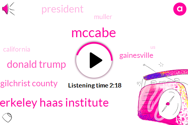 Mccabe,Uc Berkeley Haas Institute,Donald Trump,Florida Gilchrist County,Gainesville,President Trump,Muller,California,United States,Fifty Nine Percent,Fifty Nine Year