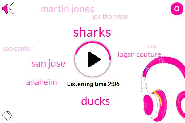 Ducks,San Jose,Sharks,Anaheim,Logan Couture,Martin Jones,Joe Thornton,Sap Center,NBA,Klay Thompson,San Antonio,NBC,Kevin Durant,Thirty Eight Year,One Seconds