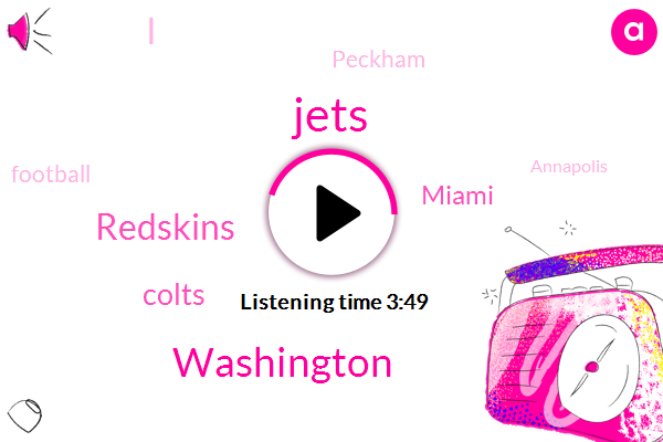 Jets,Washington,Redskins,Colts,Miami,Peckham,Football,Annapolis,Miami Dolphins,Maryland,Hurricane Florence,Indy,Brian,Detroit,Fifty Eight Percent,Four Hours