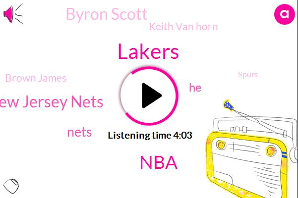 Lakers,New Jersey Nets,NBA,Byron Scott,Keith Van Horn,Nets,Brown James,Spurs,Sixers,Brooklyn,Lonzo,Luke Walton,Russell,Gregg Popovich,Danja,Angelo Rose,Dayton,Dan Gelo,Sacramento