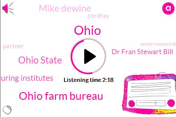 Ohio,Ohio Farm Bureau,Ohio State,Ohio Manufacturing Institutes,Dr Fran Stewart Bill,Mike Dewine,Cordray,Partner,Senior Research Fellow,John Glenn College Of Public,Hardy,Professor