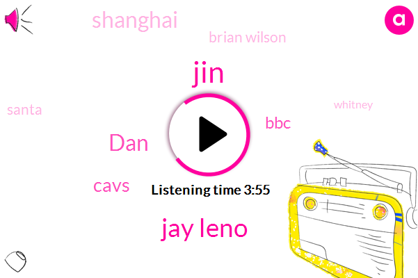 JIN,Jay Leno,DAN,Cavs,BBC,Shanghai,Brian Wilson,Santa,Whitney,China,France,Two Days