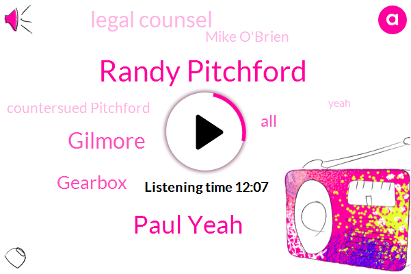 Randy Pitchford,Paul Yeah,Gilmore,Gearbox,Legal Counsel,Mike O'brien,Countersued Pitchford,Andy Mcnamara,Pittsburgh,Developer,NRA,Wade,Borland,Dallas County Texas District Court,Paul Sage,JOE,Texas,Of Counsel,Texas Medieval Times,CEO