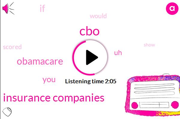 CBO,Insurance Companies,Obamacare