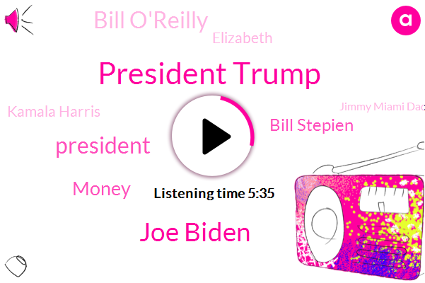 President Trump,Joe Biden,Money,Bill Stepien,Bill O'reilly,Elizabeth,Kamala Harris,Jimmy Miami Dade County,Abc News,Emily,Hartford,Jimmy,Attorney