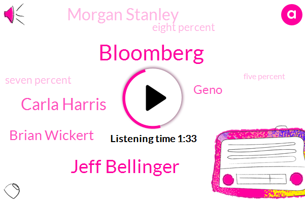 Bloomberg,Jeff Bellinger,Carla Harris,Brian Wickert,Geno,Morgan Stanley,Eight Percent,Seven Percent,Five Percent,Two Percent