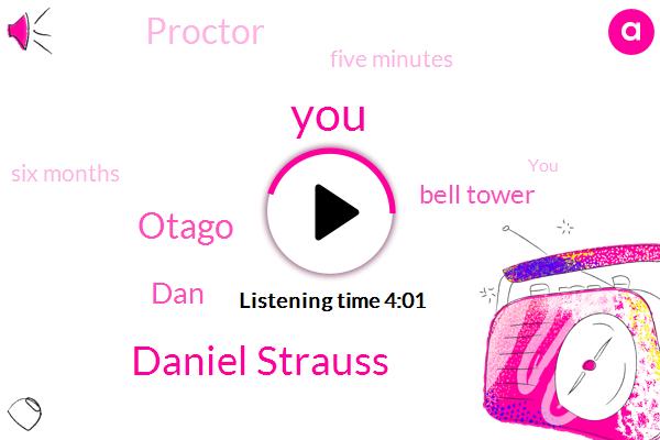 Daniel Strauss,Otago,DAN,Bell Tower,Proctor,Five Minutes,Six Months