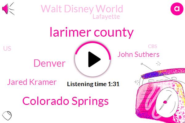 Larimer County,Colorado Springs,Denver,Jared Kramer,ABC,John Suthers,Walt Disney World,Lafayette,United States,CBS