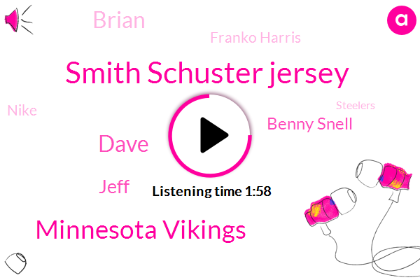 Smith Schuster Jersey,Minnesota Vikings,Dave,Jeff,Benny Snell,Brian,Franko Harris,Nike,Steelers,Anthony Davis,MVP,Youtube,Rand,Forty Five Years,Two Weeks