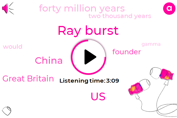 Ray Burst,United States,China,Great Britain,Founder,Forty Million Years,Two Thousand Years