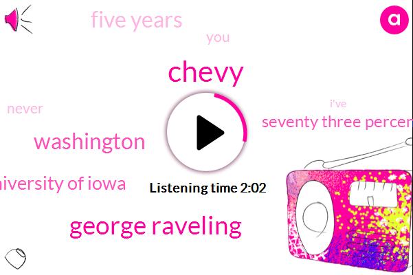 Chevy,George Raveling,Washington,University Of Iowa,Seventy Three Percent,Five Years
