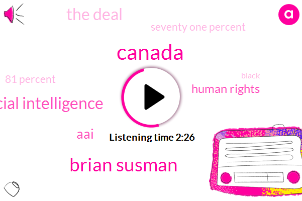 Canada,Brian Susman,Artificial Intelligence,AAI,Human Rights,The Deal,Seventy One Percent,81 Percent