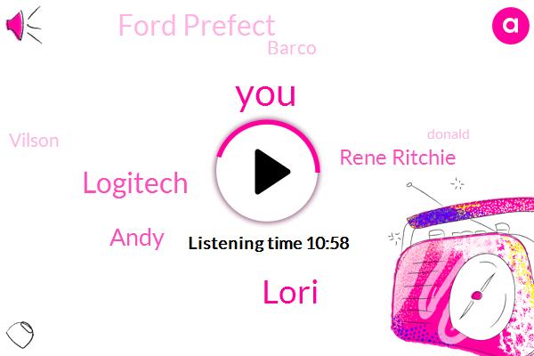 Logitech,Lori,Andy,Rene Ritchie,Ford Prefect,Barco,Vilson,Donald Trump,James Thompson,Peter Jones,Amazon,P. One,Youtube,Lorie